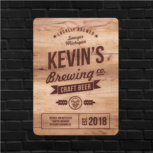 Personalized Brewing Company Wall Sign | Personalized Bar Signs