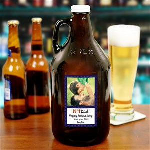 Personalized No. 1 Dad Growler | Father's Day Barware