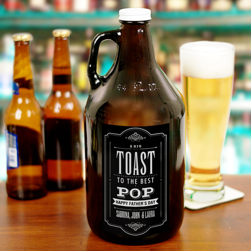 Personalized Toast to Dad Growler | Personalized Barware