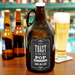 Personalized Toast to Dad Growler