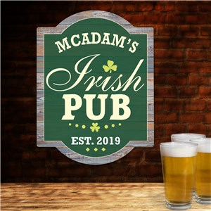 Shaped Sign for St Patrick's Day | Personalized Irish Pub Sign
