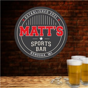 Personalized Sports Bar Wall Sign | Personalized Mancave Sign