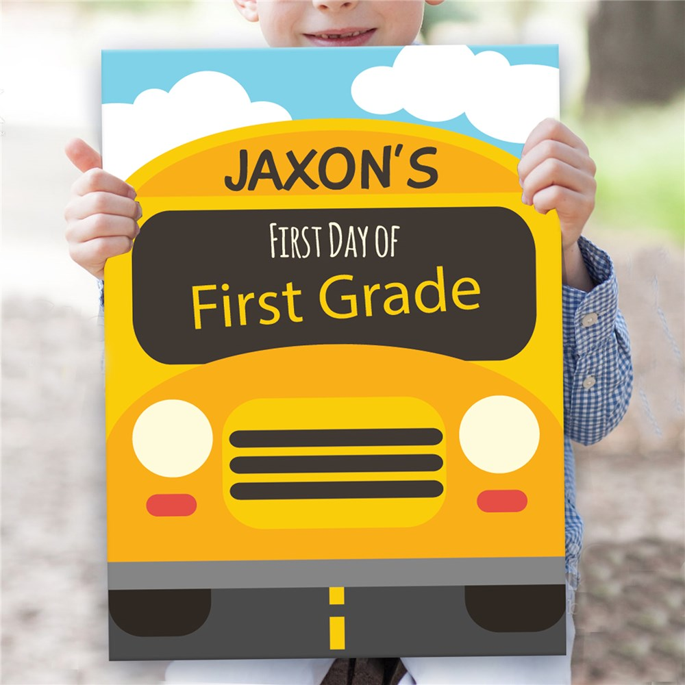 Personalized Back To School Bus Sign | Personalized Back To School Signs