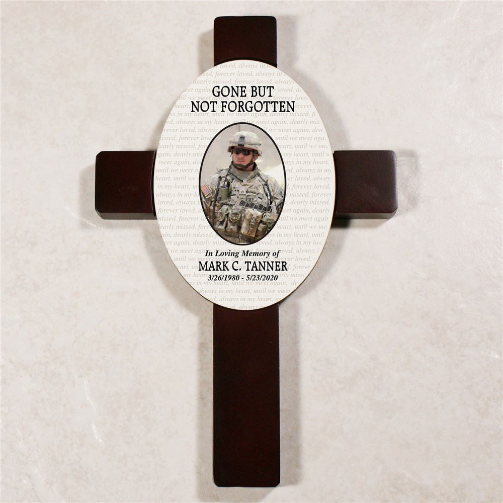 Personalized Gone but Not Forgotten Memorial Wall Cross | Personalized Memorial Gifts