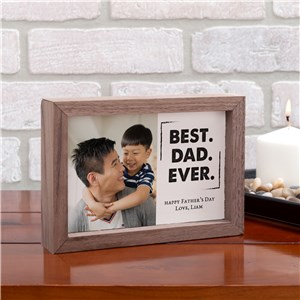 Personalized Best Dad Ever Framed Table Top Sign | Personalized Photo Keepsake For Dad