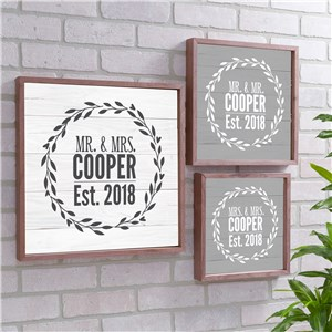 Personalized Couples Established Wood Pallet Wall Decor | Personalized Wall Art For Couples