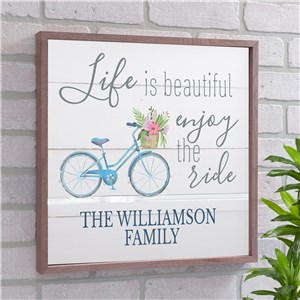Personalized Life Is Beautiful Wall Decor | Personalized Wooden Signs For Home