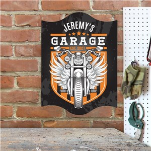 Personalized Motorcycle Wall Sign | Personalized Motorcycle Garage Sign