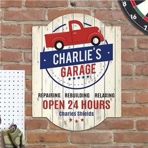 Personalized Truck Garage Wall Sign | Personalized Garage Signs