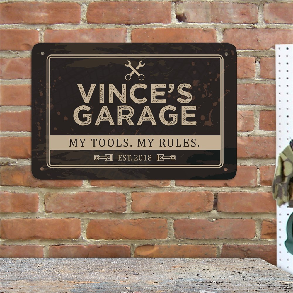 Personalized My Tools My Rules Wall Sign 6128324