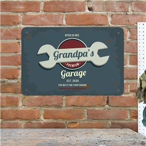 Personalized Vintage Garage Wall Sign | Personalized Mancave Signs