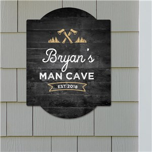 Man Cave Gifts | Personalized Man Cave Sign)