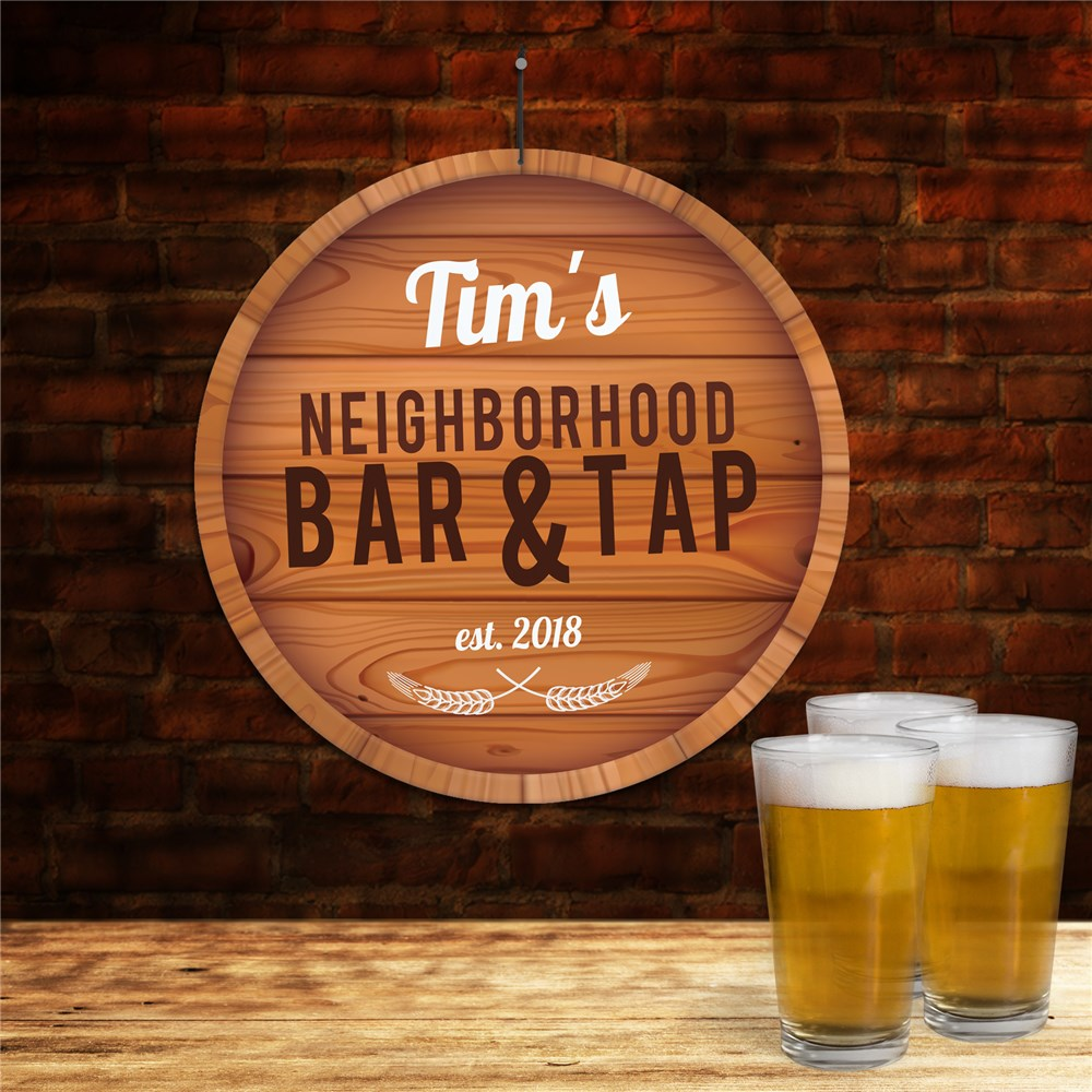 Personalized Neighborhood Bar and Tap Wall Sign | Personalized Bar Signs