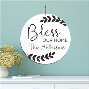 Personalized Bless Our Home Sign | Personalized Family Name Signs