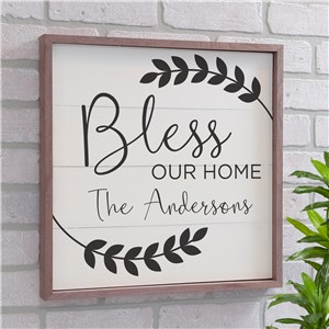 Personalized Bless Our Home Wall Decor | Wood Pallet Wall Decor
