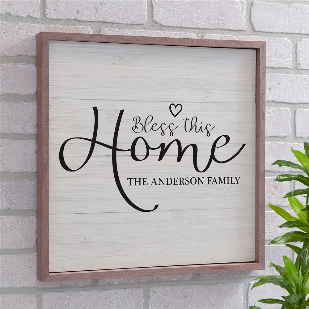 Personalized Bless This Home Heart Wall Decor | Personalized Pallet Signs