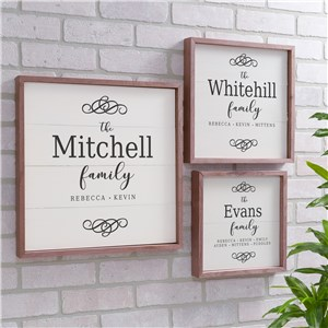Personalized Family Filigree Wood Pallet Wall Decor | Personalized Rustic Wood Signs