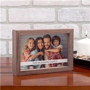 Personalized Family Photo Framed Table Top Sign | Wood Frame Photo Keepsakes