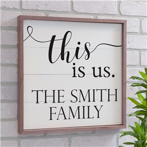 Personalized This Is Us Wood Pallet Wall Decor