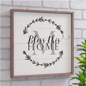 Personalized Bless This Home Wood Pallet Wall Decor | Personalized Pallet Sign