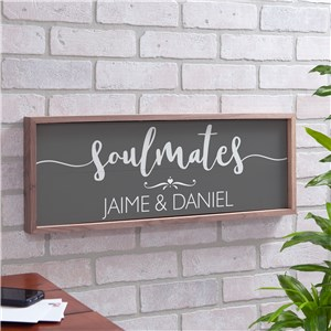 Personalized Soulmates Wall Sign | Personalized Wall Decor For Couples