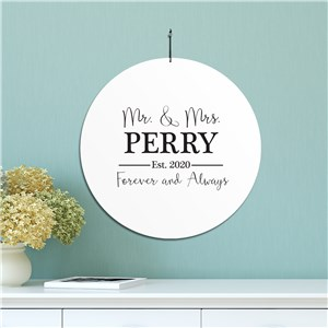 Personalized Mr and Mrs House Sign | Personalized Family Name Signs