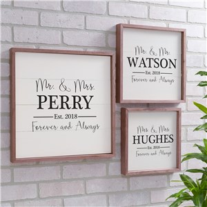 Personalized Mr and Mrs Forever and Always Wall Decor | Personalized Wall Art For Couples