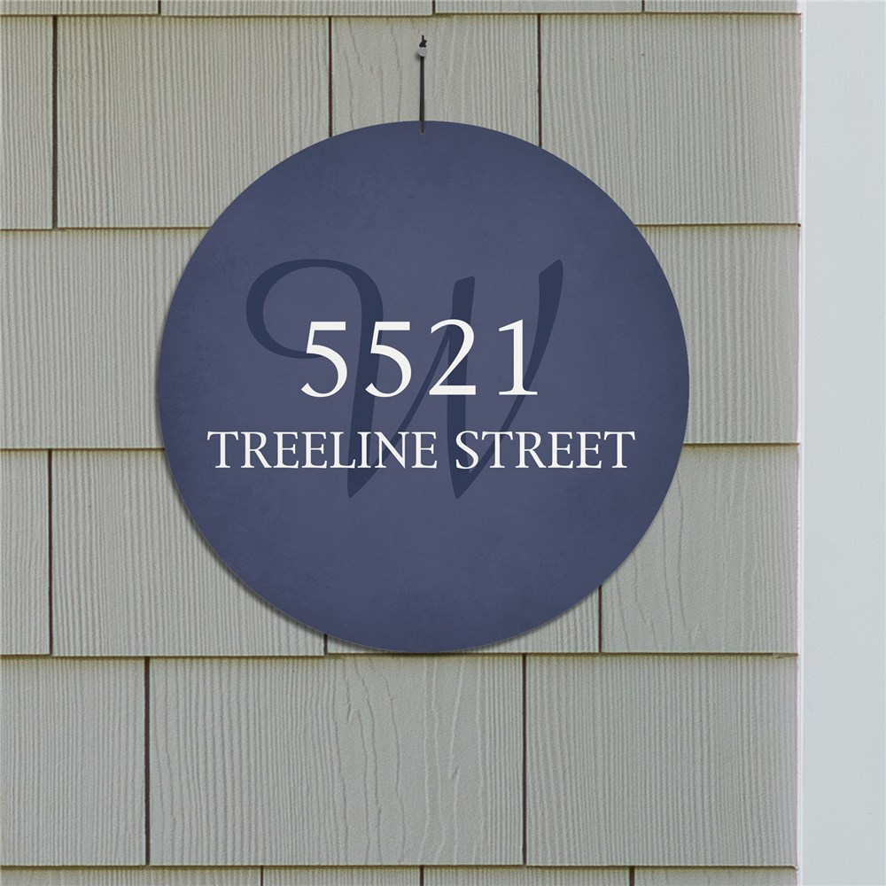 Personalized Initial Address House Sign | Outdoor Personalized Signs