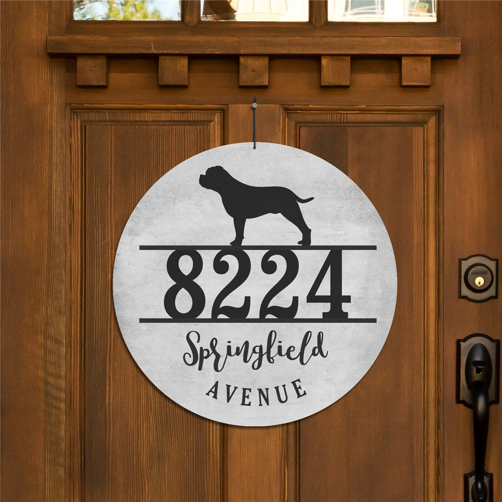 Personalized Dog Breed Address Sign | Custom Welcome Signs