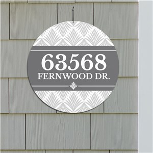 Personalized Palm Address Sign | Personalized Address Signs