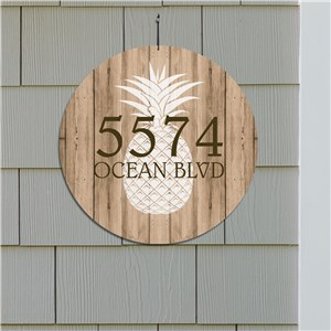 Personalized Pineapple House Sign | Personalized Address Sign