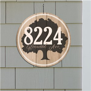 Personalized Oak Tree Address Sign | Custom House Sign