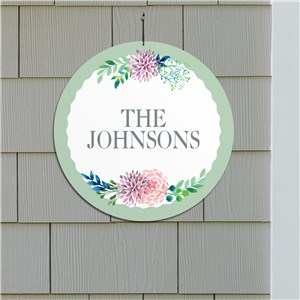 Personalized Floral Welcome Sign | Personalized Family Name Signs