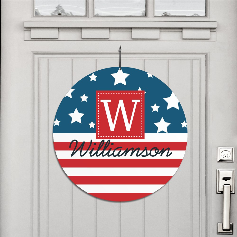 Personalized Patriotic House Sign | Patriotic Welcome Sign