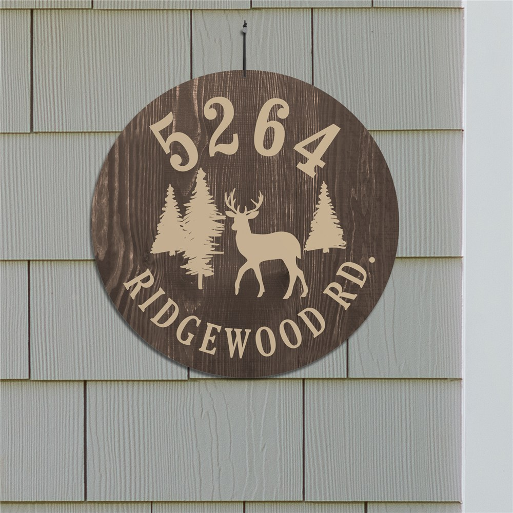 Personalized Woodland Address Wall Sign 61307016