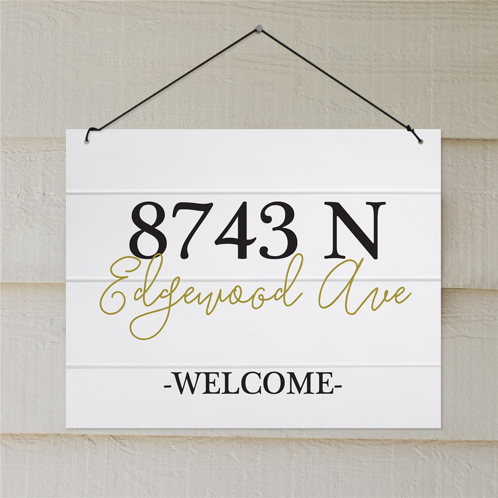 Personalized Welcome Address Sign | Personalized Welcome Signs