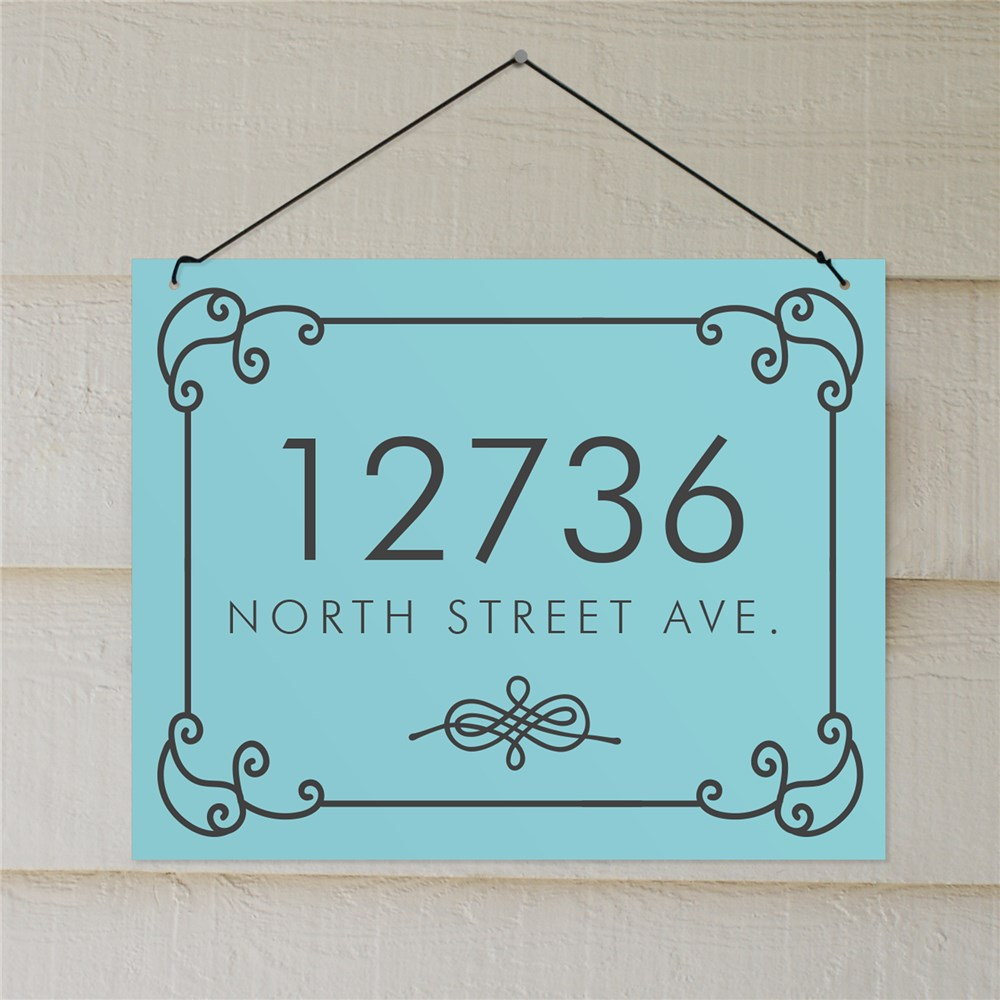 Personalized Scroll Address Sign | Custom House Signs