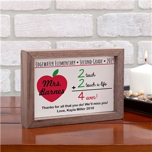 Personalized Teacher Gifts | Personalized Teacher Signs