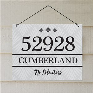 Personalized Diamond Address Wall Sign | Custom House Signs