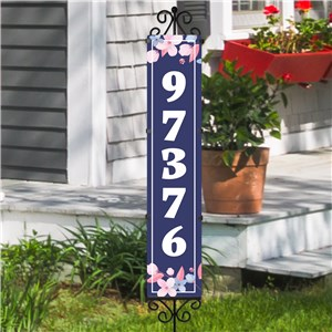 Personalized Floral Address Expression Yard Stake | Personalized Address Sign