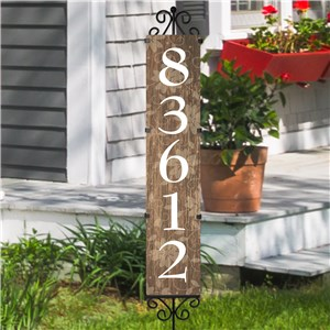 Rustic Personalized Address Yard Stake | Personalized Address Signs
