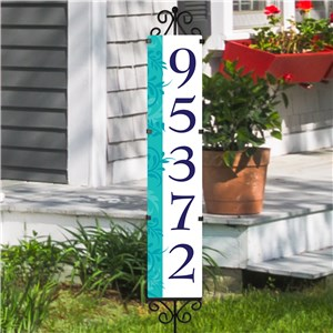 Personalized Address Sign Vibrant Expression Yard Stake | Personalized Address Sign