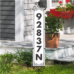 Personalized Address Yard Sign Scroll Expression | Personalized Address Sign