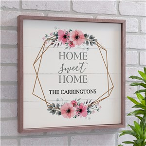 Personalized Home Sweet Home Framed Wall Decor | Personalized Pallet Signs