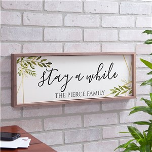 Personalized Welcome Home Framed Wall Sign | Personalized Family Name Sign