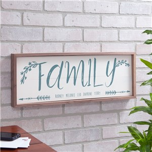 Personalized Family Arrow Framed Wall Sign | Personalized Family Sign