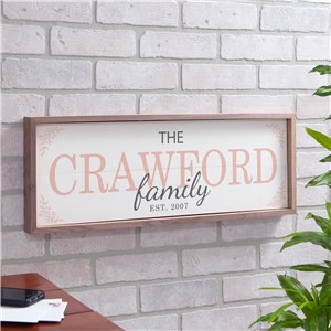 Personalized Family Framed Wall Sign | Family Name Wall Art