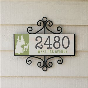 Personalized Neck Of The Woods Signature Horizontal Sign | Personalized Address Sign