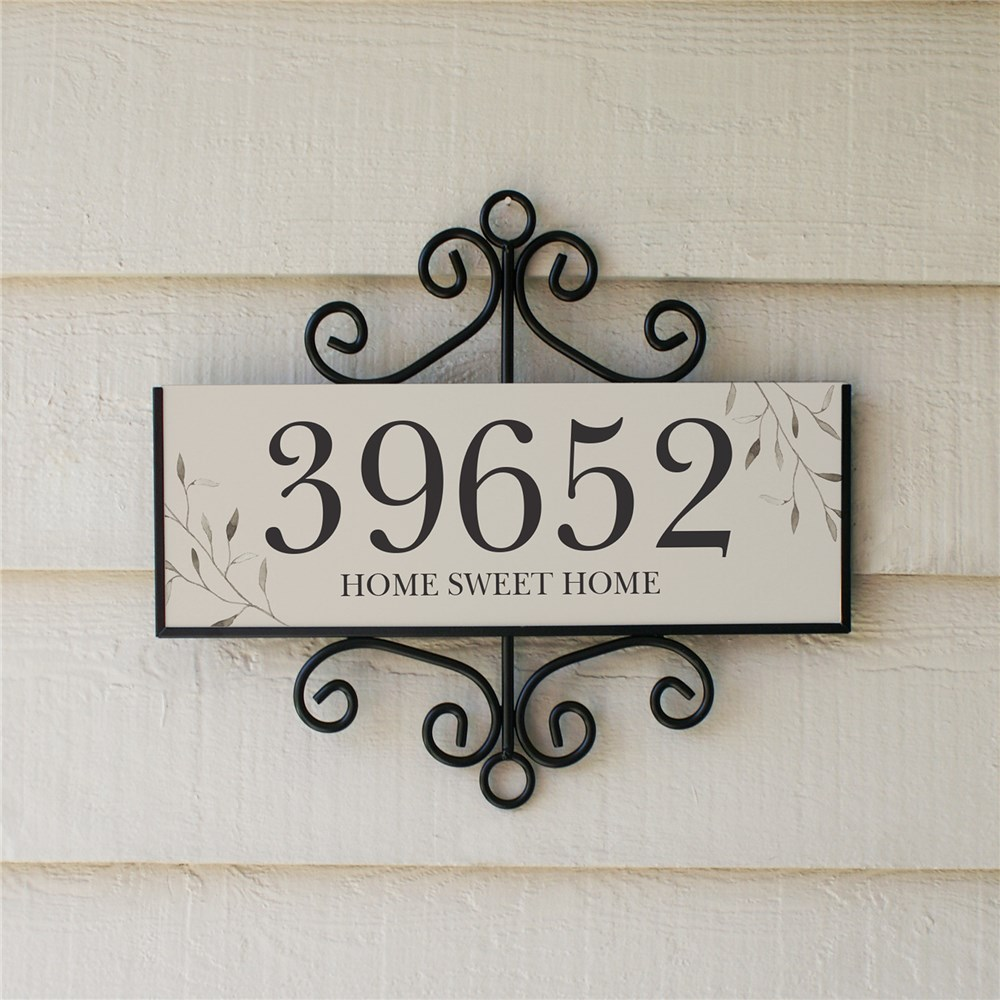 Personalized Home Sweet Home Signature Horizontal Sign | Personalized Address Sign