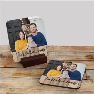 Photo With Name Personalized Coaster Set | Personalized Photo Gifts